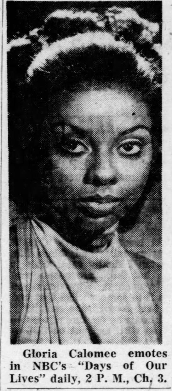 Gloria Calomee (Annie Mae), Days of Our Lives, 1969