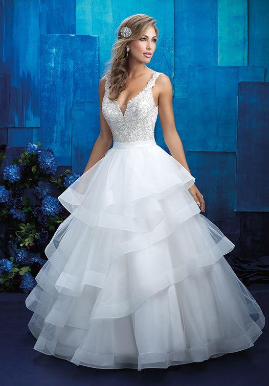 Tiered Ruffled Beaded Ball Gown | Allure Bridals 9418 | http://trib.al/lbqsC22