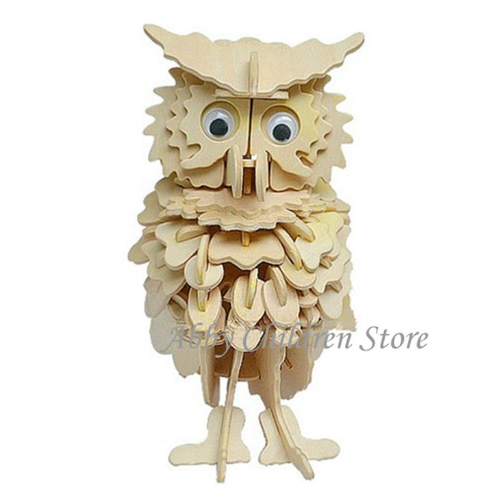 Owl Model 3D Puzzles Wooden Puzzles DIY Toy Woodcraft Handmade Toy Learning Educationa Toys For Children Kids Adult #>=#>=#>=#>=#> Click on the pin to check out discount price, color, size, shipping, etc. Save and like it!