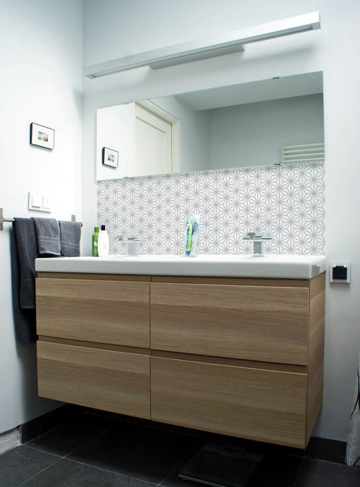 ikea bathroom godmorgon braviken wallpaper  Bathrooms