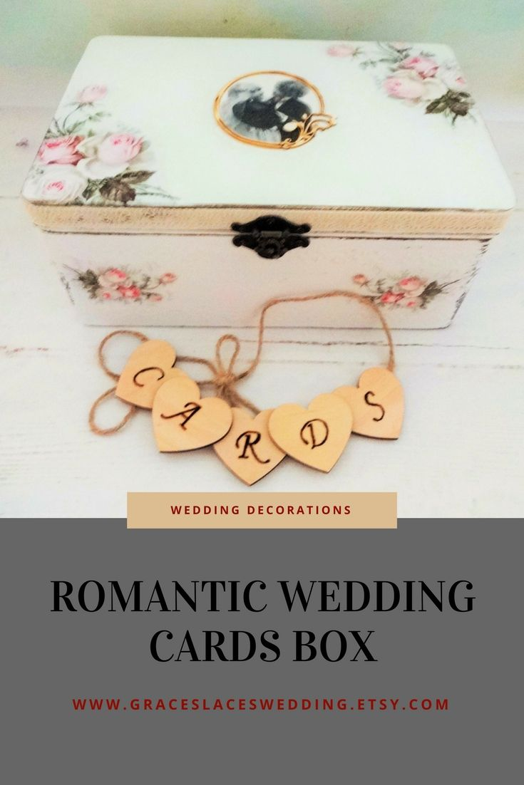 Big wooden chest decorated using decoupage technique. The box will suit romantic wedding theme. #romanticwedding #weddingchest #weddingcardsbox #weddingdecor #shabbychicwedding