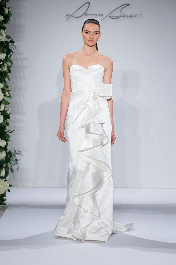 Dennis Basso Bridal Gown A Line Natural Waist