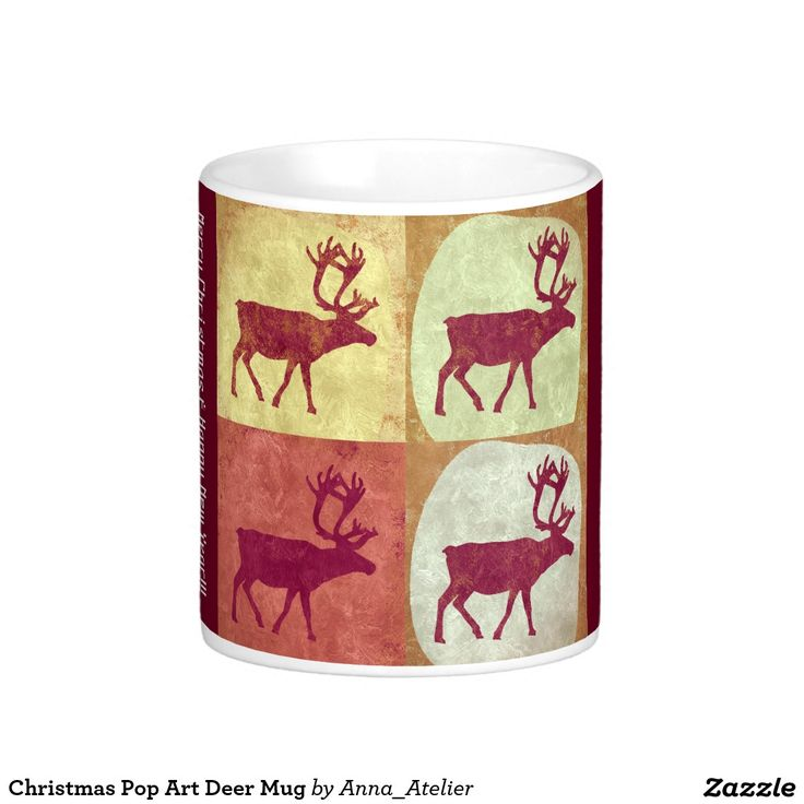 Christmas Pop Art Deer Mug