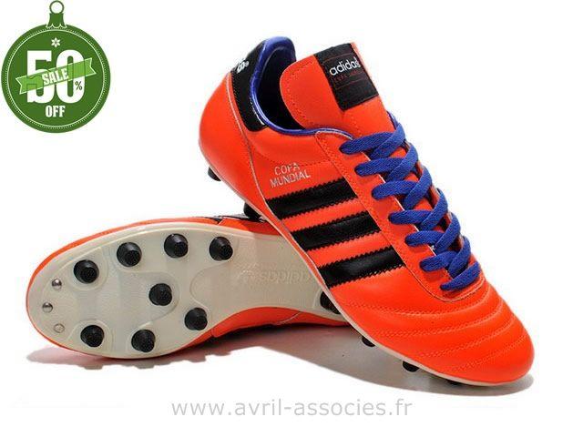 Boutique 2014 Coupe du monde Chaussures de foot adidas Copa Mundial FG Rouge Noir (Ballon De Foot Adidas)