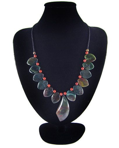 Fabulous Hand-Crafted Work, Natural Multi-Color MOSS AGATE Moss Agate Hand-crocheted Necklace by Ameogem on Etsy