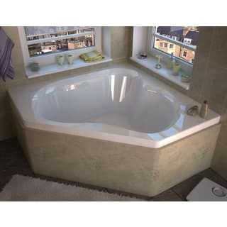 Shop for Atlantis Whirlpools Cascade 60 x 60 Corner Soaking Bathtub in White. Get free shipping at Overstock.com - Your Online Home Improvement Outlet Store! Get 5% in rewards with Club O! - 16145387