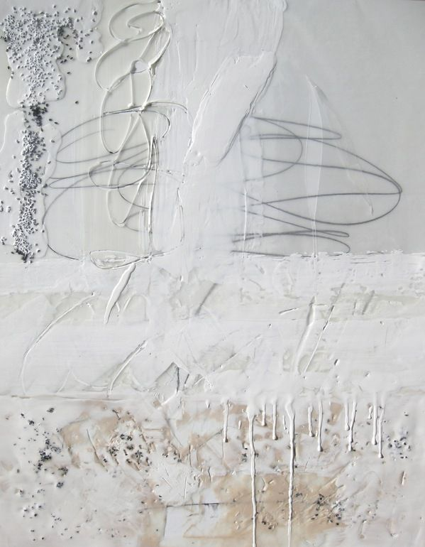abstract painting + texture + scribbles