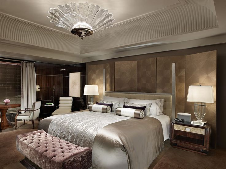 Mandarin Oriental Taipei, Taiwan. #hotel #bed #room #lighting #interior #design #chandelier #lamp