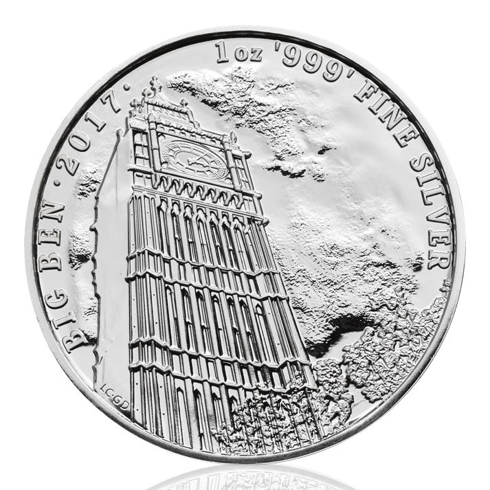 "BIG BEN Silbermünze ist der Beginn der neuen Serie Landmarks of Britain — 1 oz <a href=""https://www.bullion-investor.com/kaufen/silber/"" class=""ssl"">Silber</a> Big Ben"