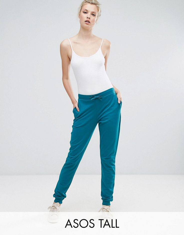 Buy it now. ASOS TALL Basic Joggers With Tie - Green. Tall trousers by ASOS TALL, Soft-touch sweat, Drawstring waistband, Side pockets, Fitted cuffs, Regular fit - true to size, Machine wash, 100% Cotton, Our model wears a UK 8/EU 36/US 4 and is 180cm/5'11 tall. Find fresh wardrobe wins with our ASOS TALL edit. Raise your sunrise-till-sunset game with occasion dresses, cool separates and jeans that go up to a 38� leg length and are perfectly proportioned to fit girls who are 5�9�/1.75m ...