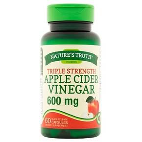 Nature's Truth Triple Strength Apple Cider Vinegar 600mg Quick Release Capsules - 60 Count : Target