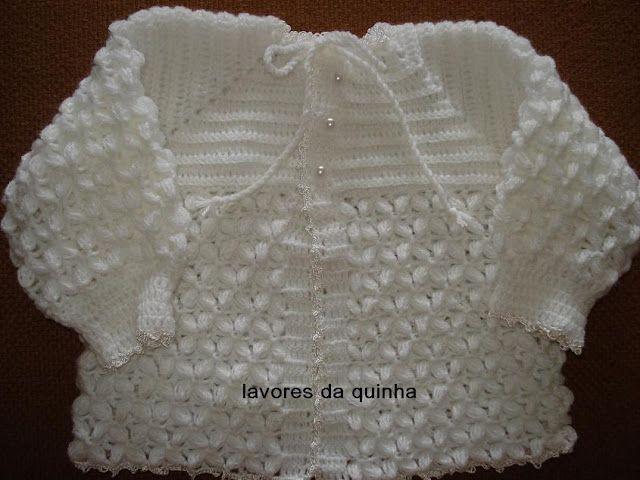 As Receitas de Crochê: Ponto de croche para casaquinho de bebe
