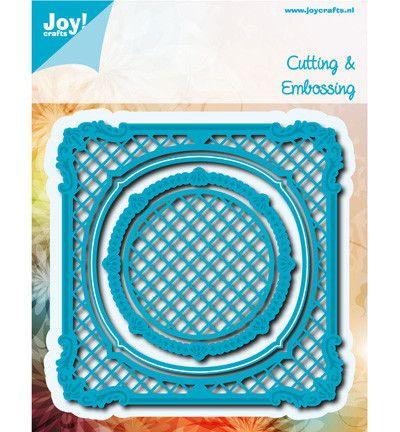 6002/0533, Cutting & Embossing ,Vierkant met Cirkel - Hobby-materiaal.nl