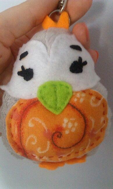 Baby owl. Minky and ikea fabric.