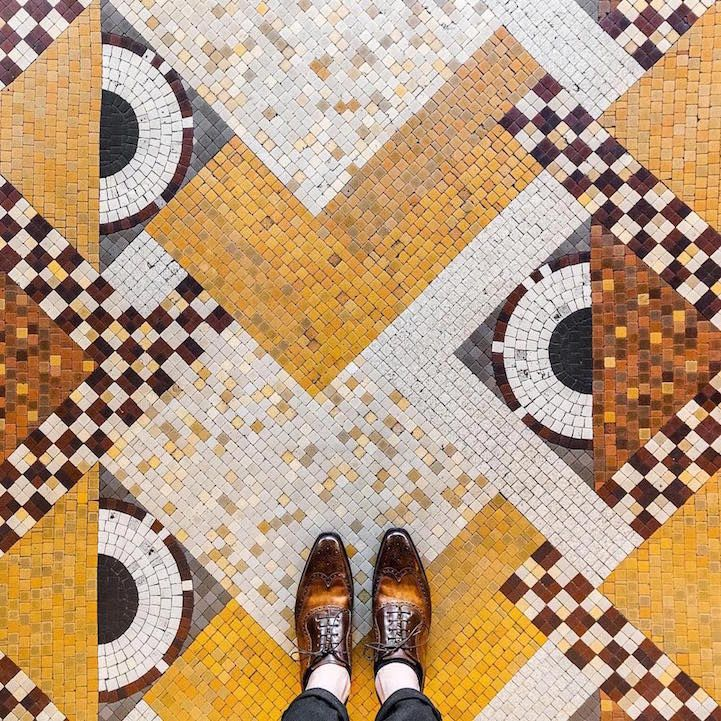 Enchanting art is more ubiquitous than we tend to realize, and photographer Sebastian Erras is on a continuous mission to capture the elaborate craft that's just beneath our toes. In an ongoing collaborative photo series with Pixartprinting, Erras has traveled to cities around the world to snap shots of the embellished floors we walk all over on a daily basis, from richly toned tiles in Barcelona to intricate mosaics in Venice. After returning from a recent trip to London, he spent the past…
