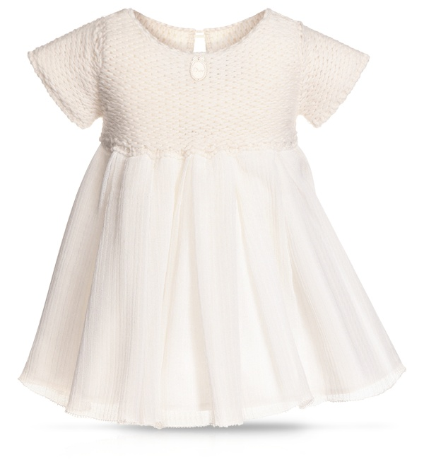 BABY DIOR - Snow-white Crêpe de Chine dress    Oh yes, my little one will be wearing this <3