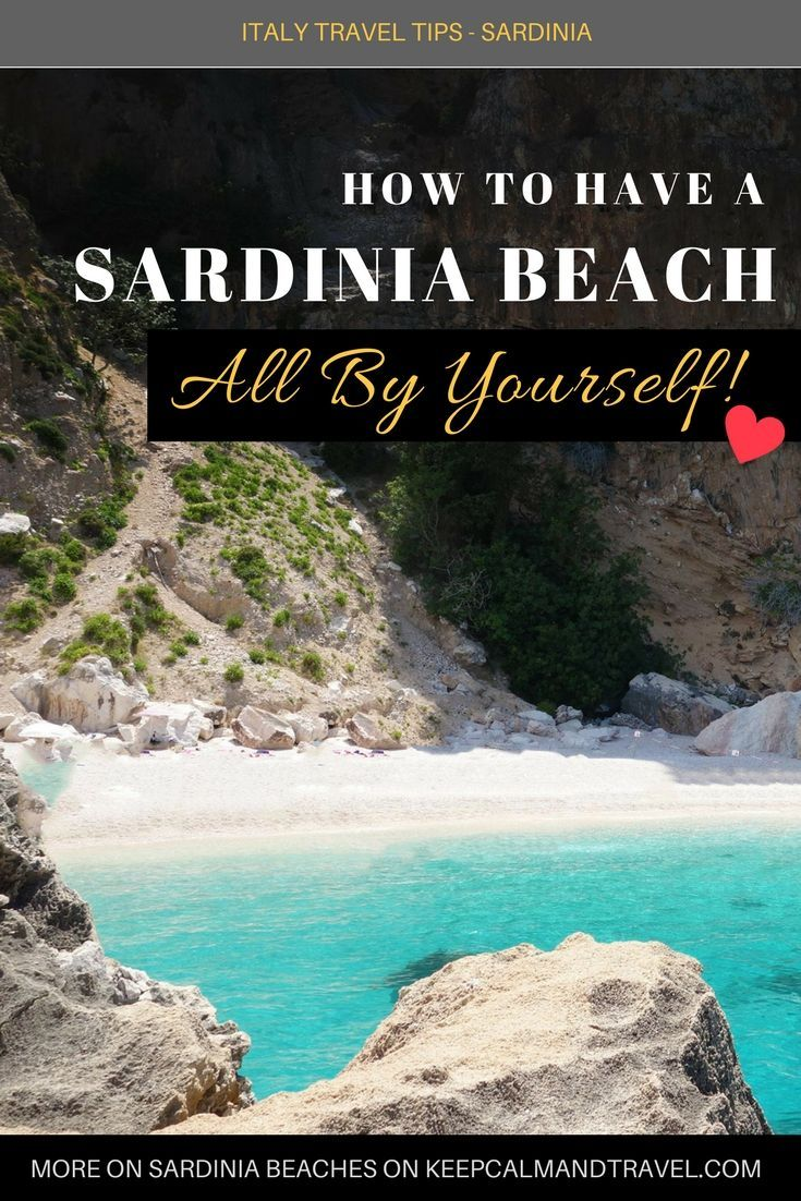 A deserted beach in Sardinia? (not during winter of course) YES! It is possible :) Not only you can have a gorgeous beach all by yourself but you will also find the best deals for hotels and resorts. Can't get better than this, right? Read more in my article! #sardinia #sardegna #traveltips #beaches #beach #vacation #holiday