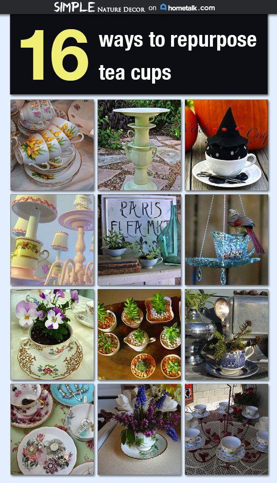 16 Ways to Repurpose Tea Cups