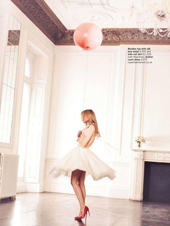 And I want her shoes and pretty skirt...and a balloon please...