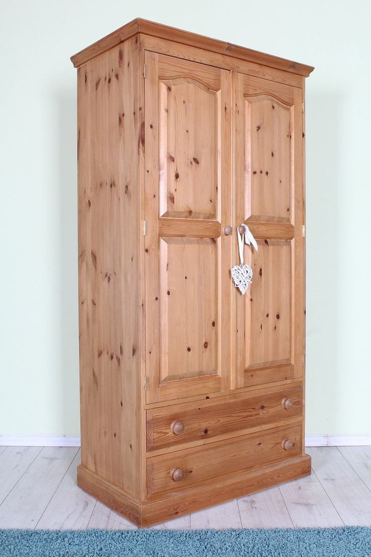 £225 Wardrobe with 2 large drawers, solid pine throughout - many more on our website - http://www.sussexpineonline.co.uk/