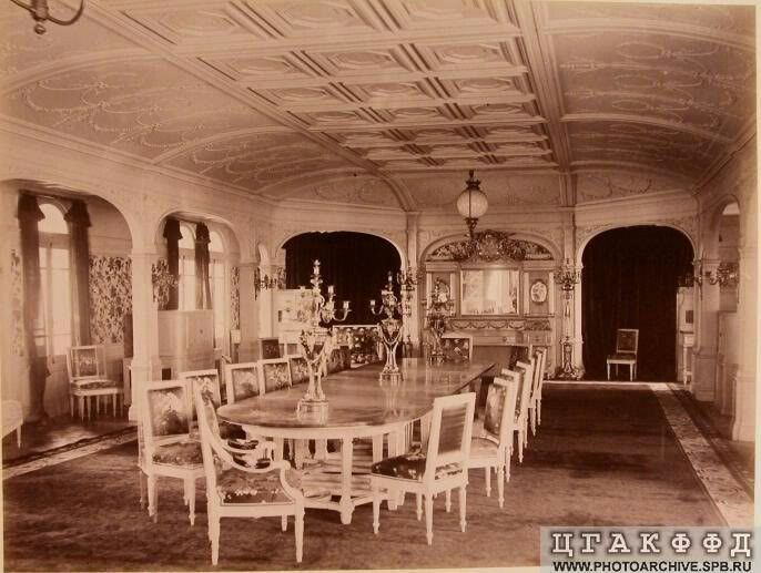 """The Dining Room on the the Imperial Royal yacht,the Livadia.  """"AL"""""""