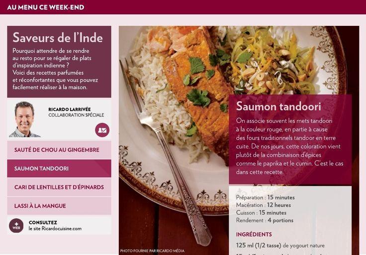 On associe souvent les mets tandoori àlacouleur rouge, en partie à cause desfours traditionnels tandoor en terre cuite. De nos jours, cette coloration vient plutôt de la combinaison d'épices commelepaprika et le cumin. C'est le