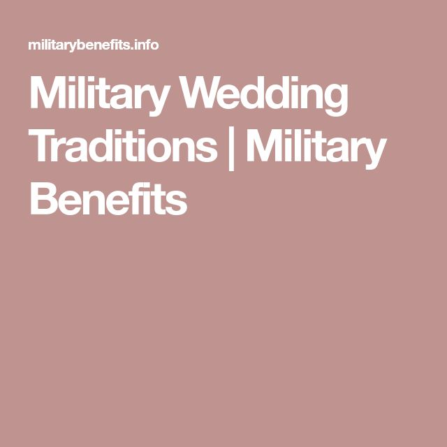 Military Wedding Traditions | Military Benefits
