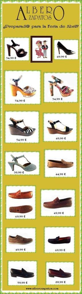 ¿Preparado para la #FeriaDeAbril? ¡En Albero Zapatos te lo ponen muy fácil! Descúbrelos: http://goo.gl/p8hUKq