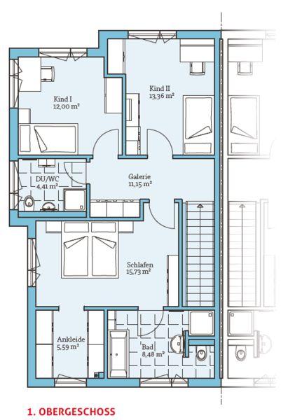 Fertighaus grundrisse doppelhaus  27 besten Doppelhaus Bilder auf Pinterest | Doppelhaus grundriss ...