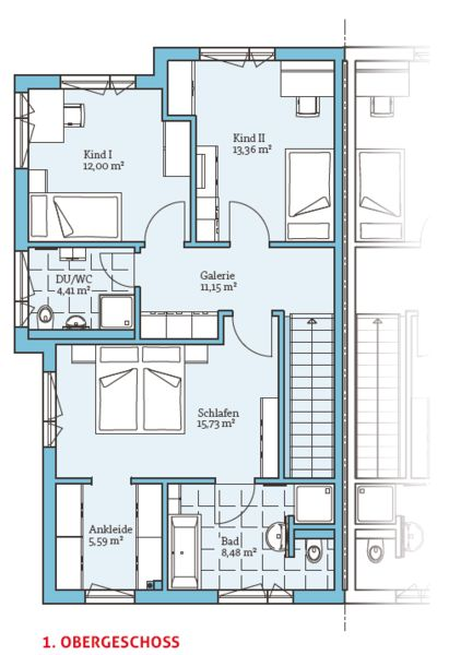 fertighaus doppelhaus 144 1 og architektur grundrisse pinterest. Black Bedroom Furniture Sets. Home Design Ideas