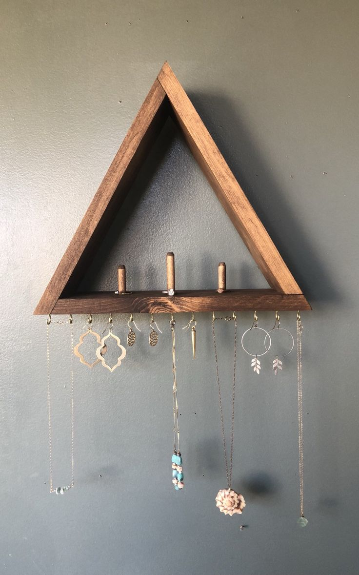 Jewelry Organizer With Shelf, Jewelry Storage, Wood Shelf, Earing Holder, Ring Holder, Jewelry Display, Necklace Storage, Necklace Holder