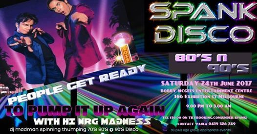 Performing at approx midnight TONIGHT at Spank's 80's and 90's party at Bobby McGee's.