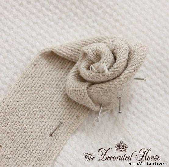 Мобильный LiveInternet Винтажные цветы из мешковины от Donna Courtney/ Мастер- классы и идеи. | DragooonFly - Со всего света, только самое лучшее! |