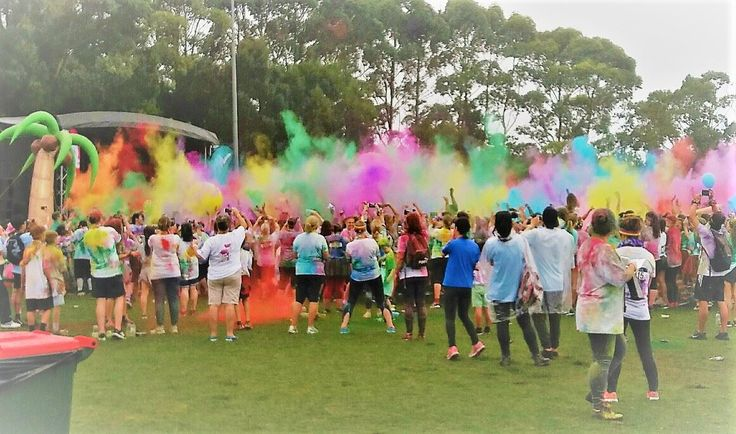 Color Run Fun - At Albany for the NZ Color Run 12 March 2017