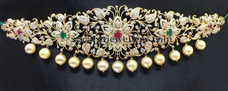 Jewellery Designs: Diamond Vaddanam by Sriraj Jewellers