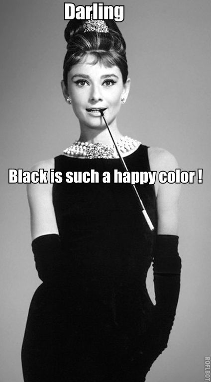 DARLING... BLACK IS SUCH A HAPPY COLOR! http://stores.ebay.com/NYC-Discount-Diva