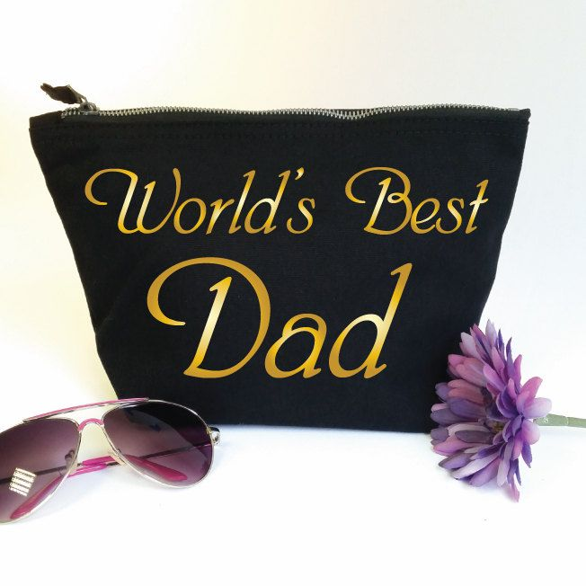 World's Best Dad Wash Bag. Toiletry Bag. Cosmetics Bag. Accessory Bag. Fathers Day Gift. Gift for Dad. Birthday Gift. Number 1 Dad. Daddy by SoPinkUK on Etsy