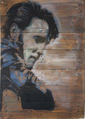 Elvis on Pallets, by Marie Prokopek