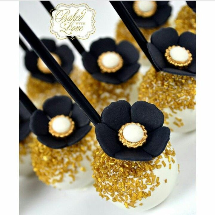Great Gatsby inspired cake pops