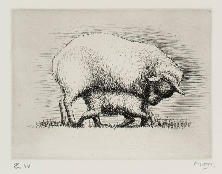 Henry Moore OM, CH 'Sheep with Lamb IV', 1972 © The Henry Moore Foundation, All Rights Reserved, DACS 2014