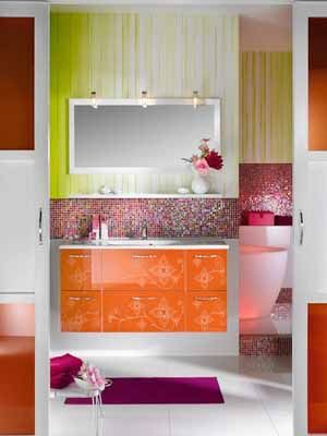 17 best images about orange and pink rooms on pinterest for Pink and orange bathroom ideas