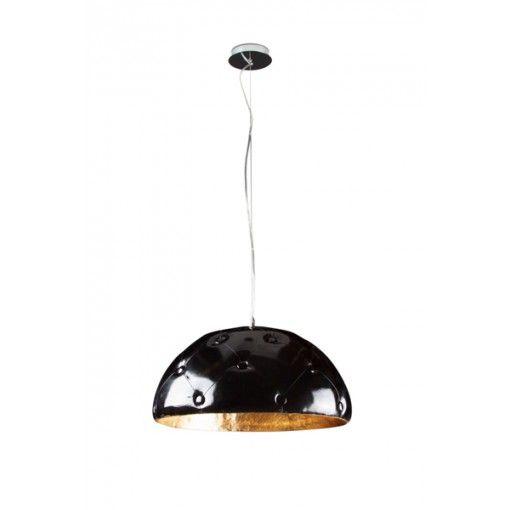 Linea Verdace Hanglamp Chesterfield Goud - Zwart Kunstleer 55 cm #verlichting #lamp #hanglamp #designonline24