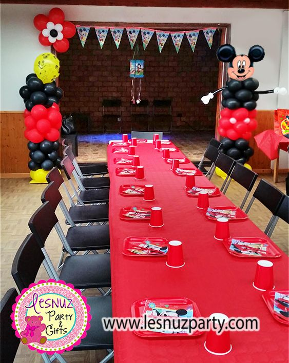 Decoración temática Mickey Mouse Lesnuzparty - Mickey themed birthday decoration
