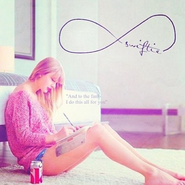 1 of the main reasons I sing and love it. 2006 first album I ever bought was the first one she released. 2008 fearless was released on my eighth b-day. no joke. I've been obsessed with the rest... swiftie 4 eva.... proud to be a part of the swiftie family