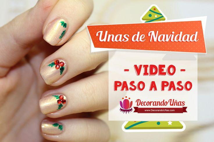 186 best christmas nails images on pinterest christmas for Decoracion de unas de navidad