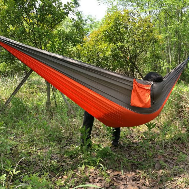 2016 NEW Stitching Color Outdoor Camping Portable Outdoor Parachute Cloth Double Hammock 260*140cm
