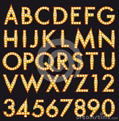 Marquee Alphabet Font Letters In Broadway Billboard Sign Style - Download From Over 43 Million High Quality Stock Photos, Images, Vectors. Sign up for FREE today. Image: 71829634
