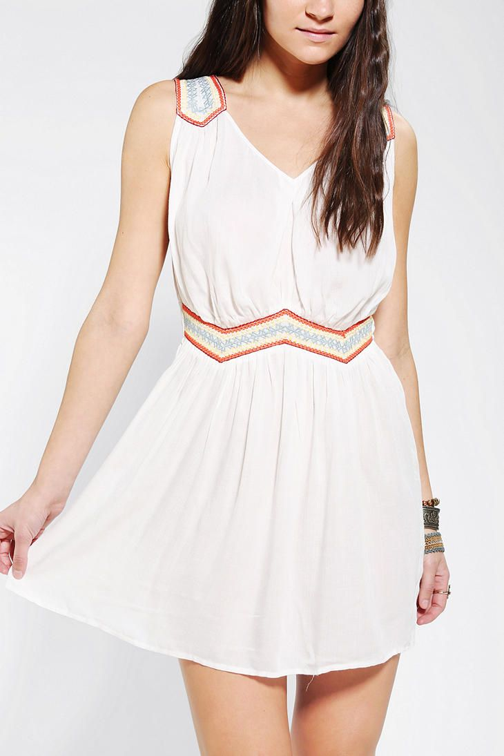 Staring At Stars Embroidered Festival Dress