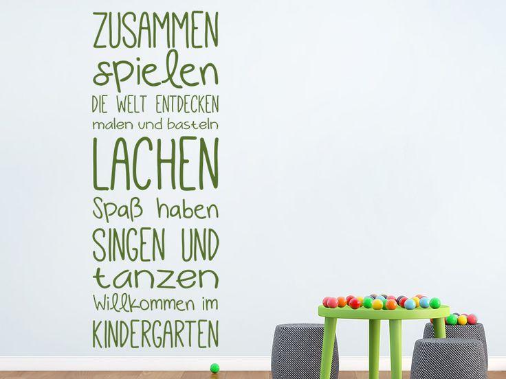 Wandtattoo Willkommen im Kindergarten von WANDTATTOO.DE