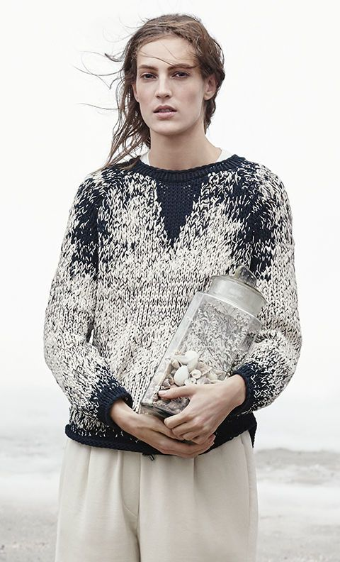Contemporary Knitwear - two tone sweater with textured knit detail // Brunello Cucinelli